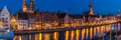 Hansestadt Lübeck: Winterabend