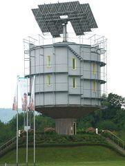 hansgrohe- solarturm..er dreht sich mit der Sonne.