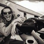 Happy and crazy pilot