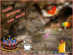 Happy Birthday,liebe Astrid!