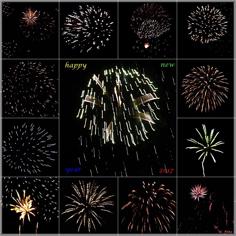 Happy New Year 2017 Foto Bild Spezial Collage Sylvester Bilder