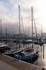 Harbor in winter