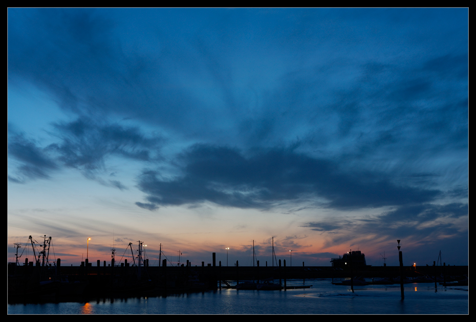 Harbour At Nightfall
