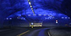 Hardanger Kreisverkehr im Tunnel