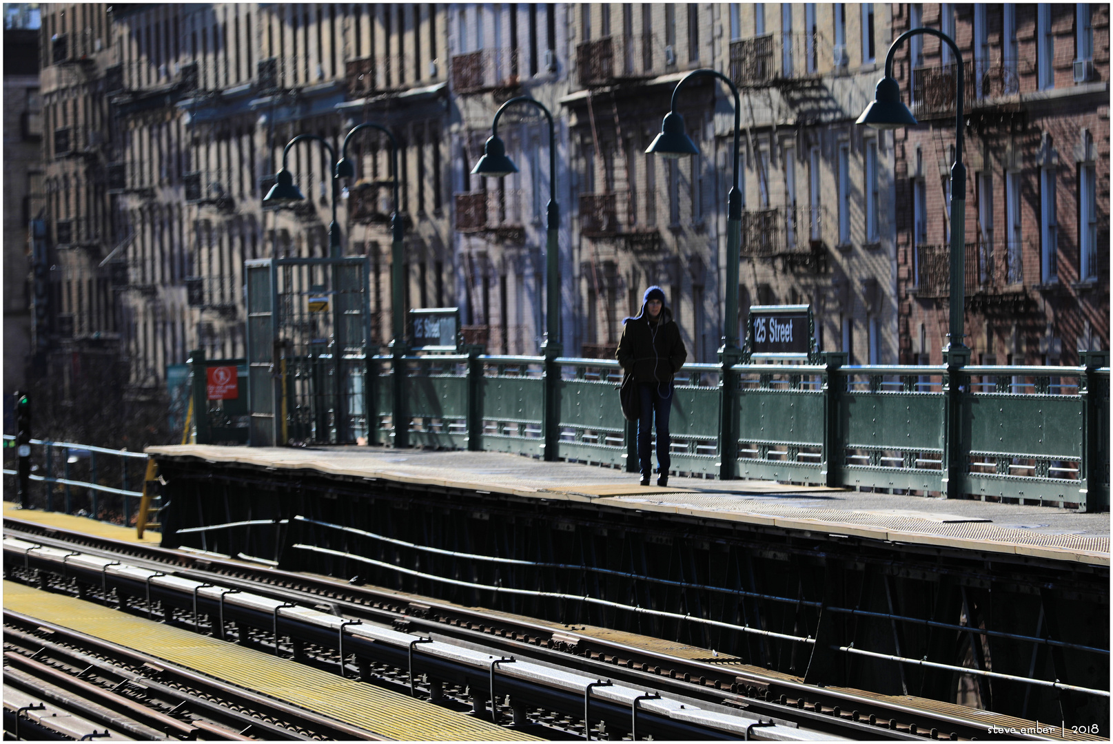 Harlem-Scape No.1 - Awaiting the Downtown Local at 125th St Station