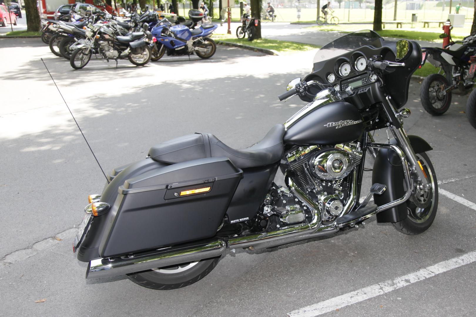 Harley auf Hochglanz