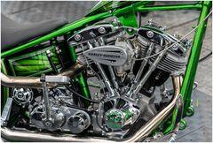 Harley in grün