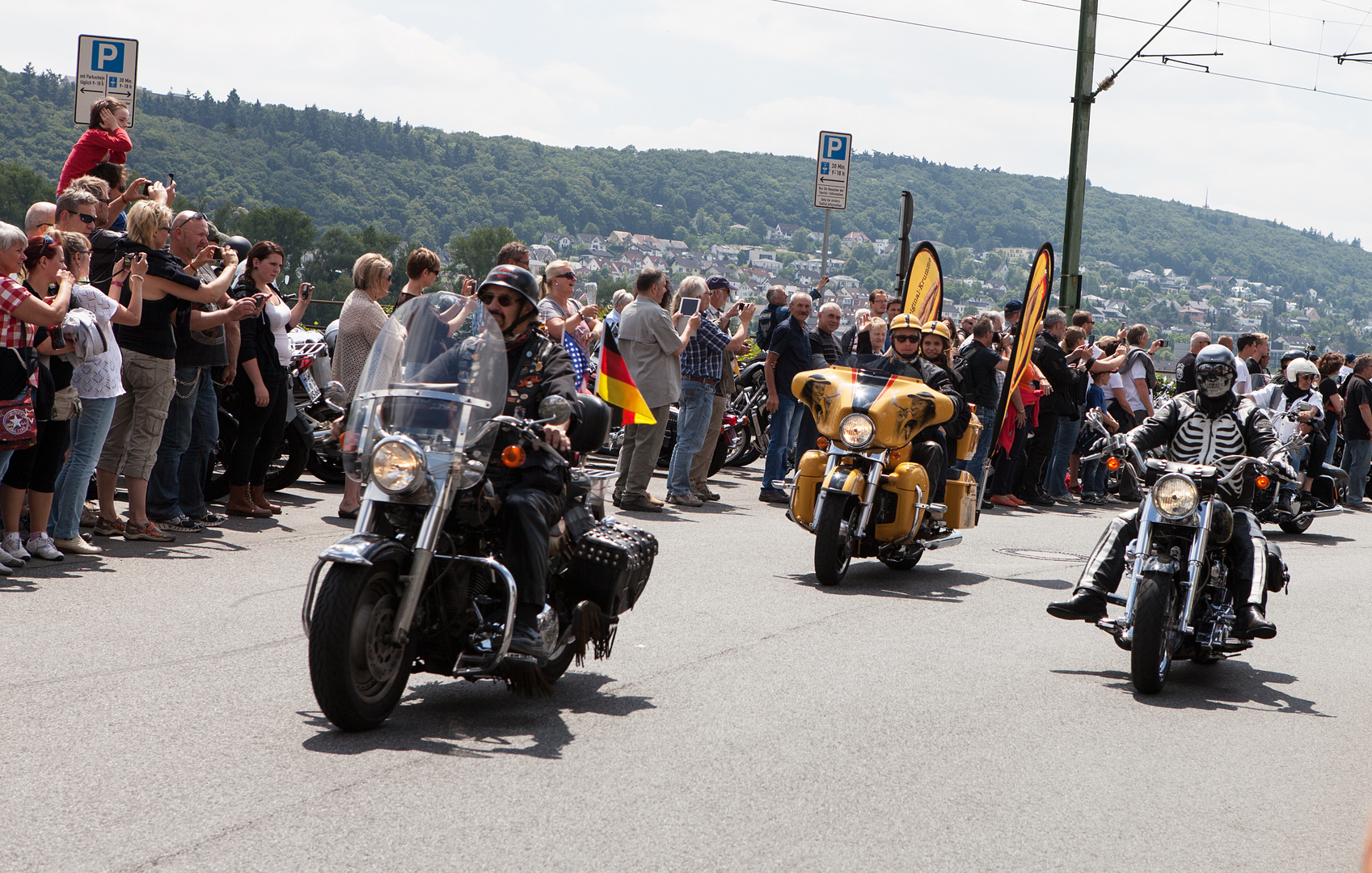 Harley Treffen in Rüdesheim 2014