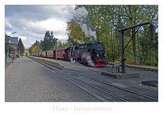 """Harz - Impressionen """" Brockenbahn in Drei Annen Hohne """" als HDR"""