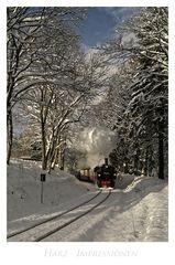 """Harz- Impressionen """" die Harzer Schmalspurbahn, auf dem Weg zum Brocken..."""