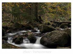 """Harz - Impressionen """" im Elendstal...."""""""