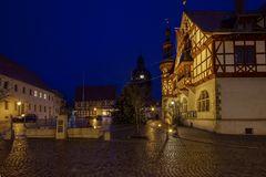 Harzgerode Rathaus und die Kirche St. Marien