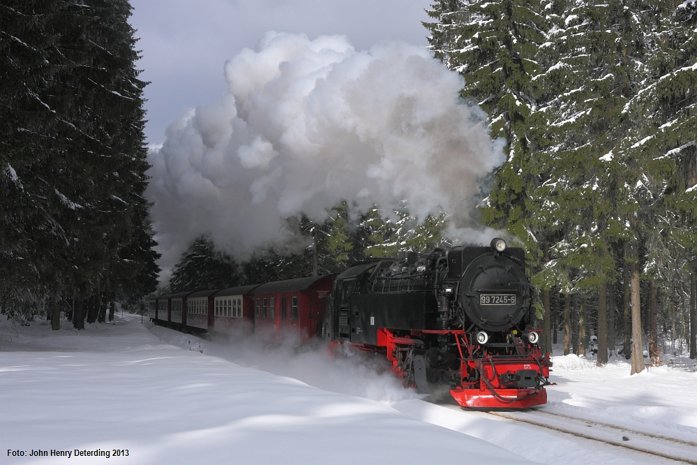 Harzquerbahn . Winterdampf