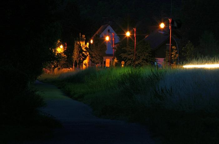 Haßmersheim bei Nacht