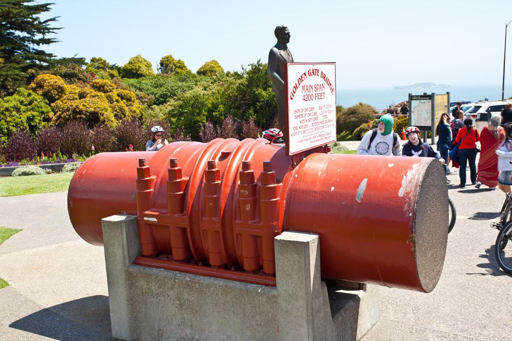 Haupt Stahlseil der Golden Gate Brigde