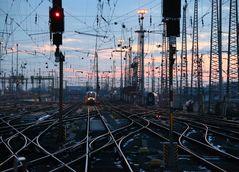 Hauptbahnhof Frankfurt am Main Abendstimmung -1-