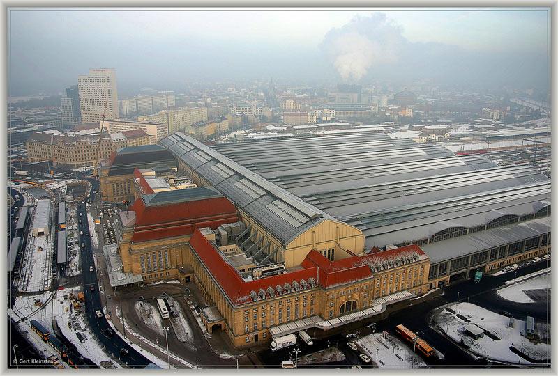 Hauptbahnhof im Winter