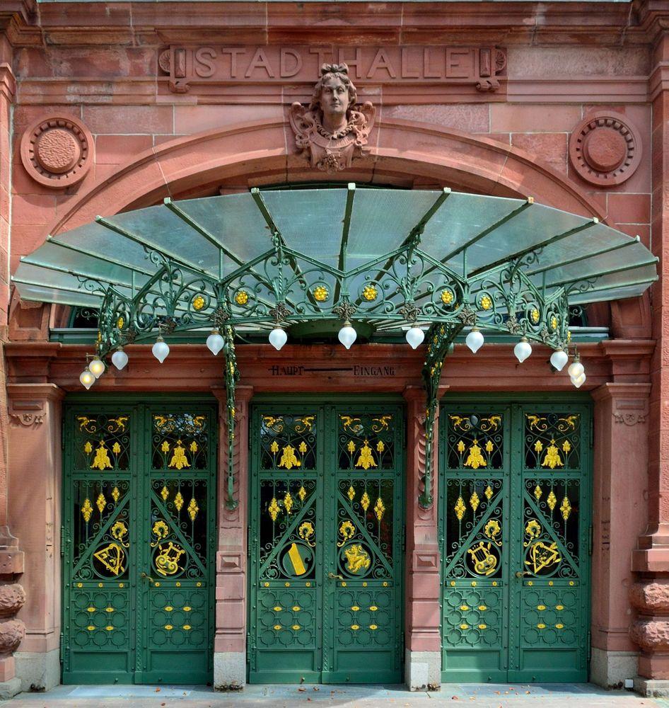 Haupteingang Stadthalle Heidelberg