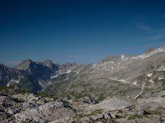 Hauptkamm der Allgäuer Alpen von hinten