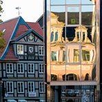 Haus des Bürgermeisters der Altstadt Braunschweig - gespiegelt