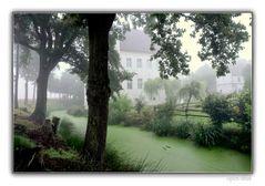 Haus Neersdonk im Morgendunst