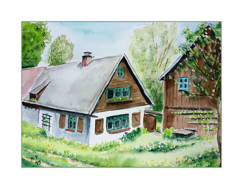 Haus Und Scheune Foto Bild Kunstfotografie Kultur