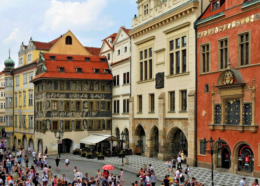 """Haus """" Zur Minute """" in Prag"""