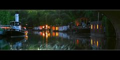 Hausboote auf dem Landwehrkanal