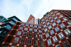Hausfassaden in Den Haag