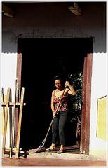 Hausfrau in Grenada, Nicaragua