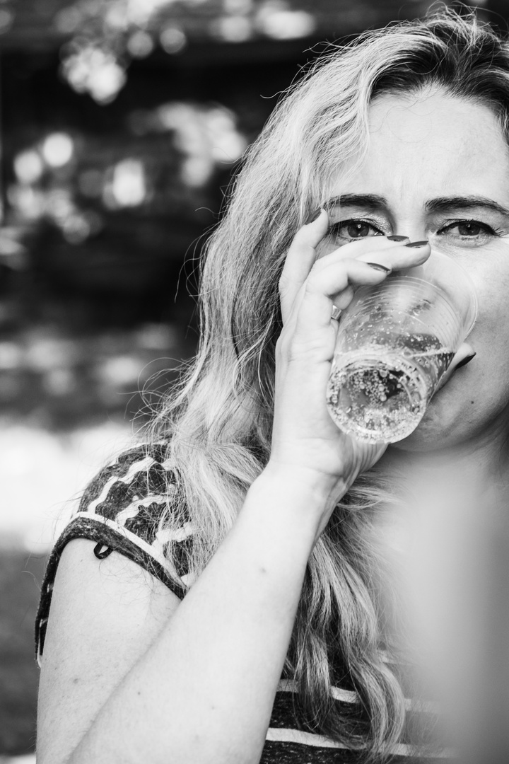 Have a drink (BW)