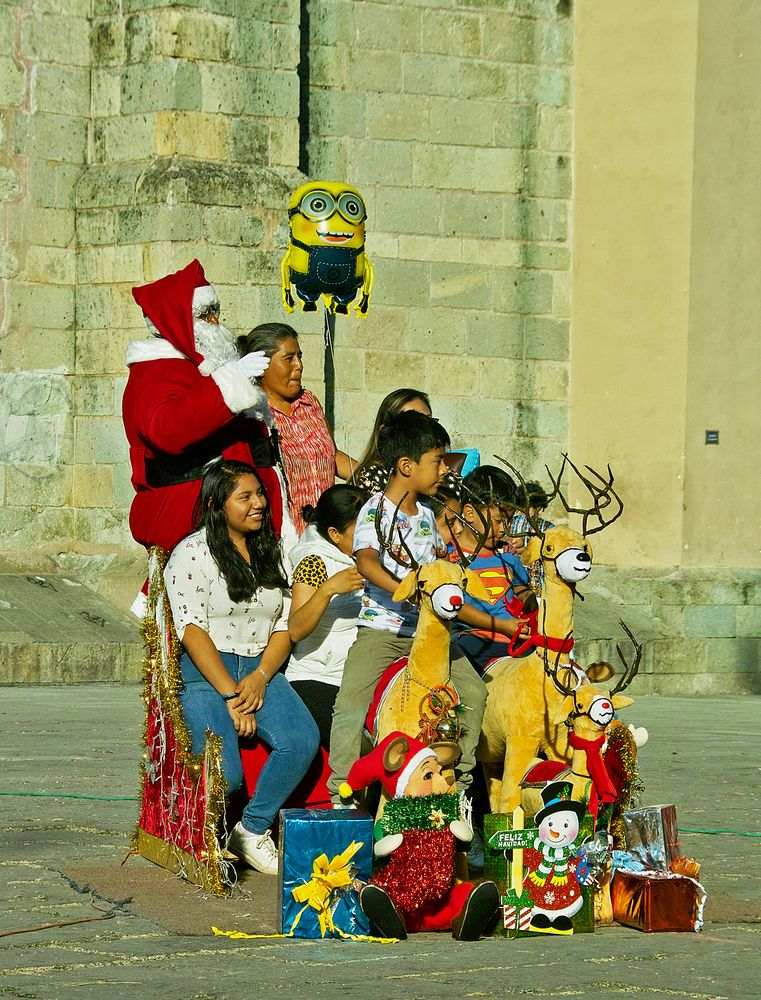 Having fun with Santa...