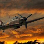 Hawker Hurricane über dem Flugplatz Lippstadt-Paderborn 003 mit PS