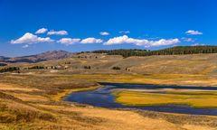 Hayden Valley, Yellowstone River, Wyoming, USA