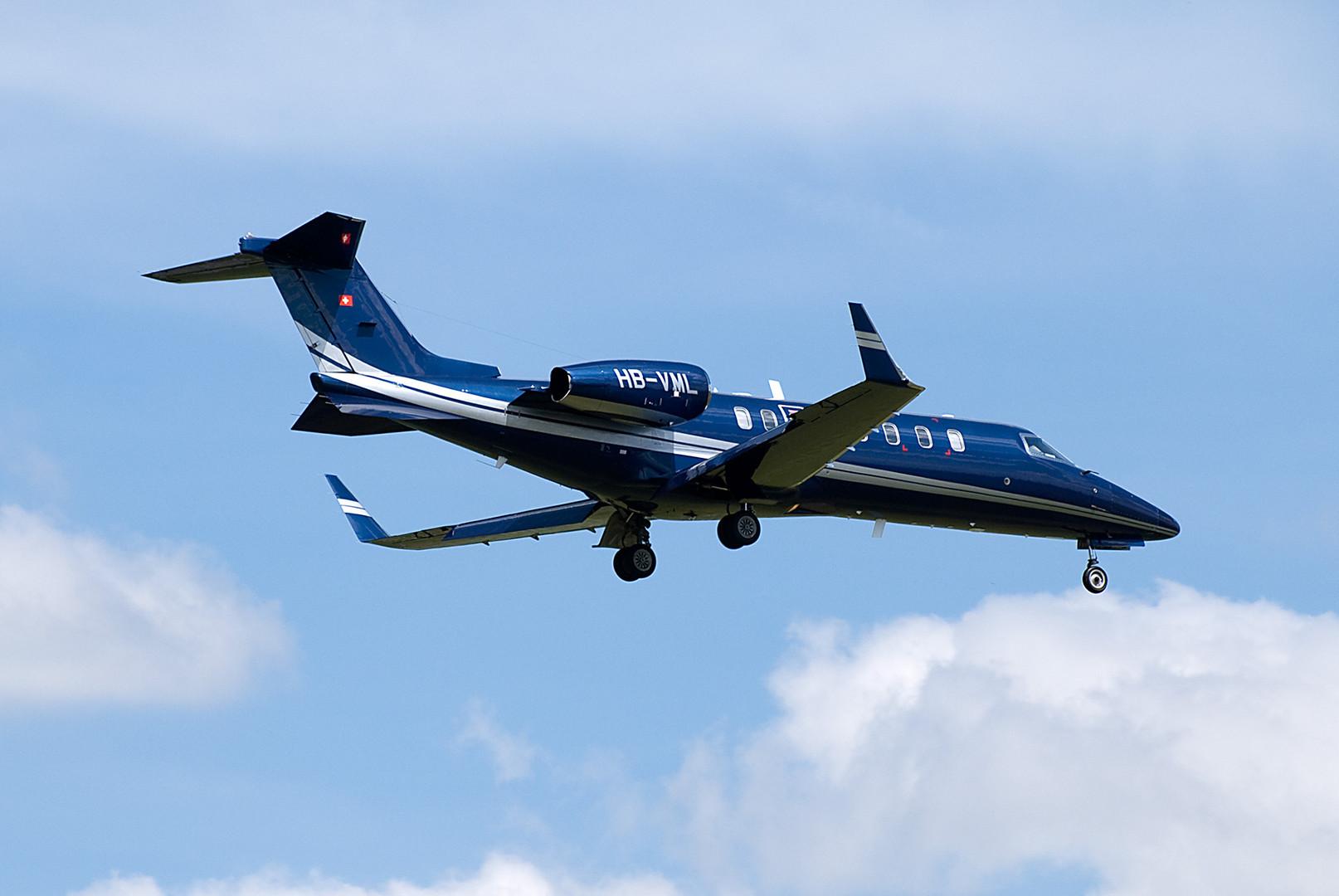 HB-VML im Landeanflug