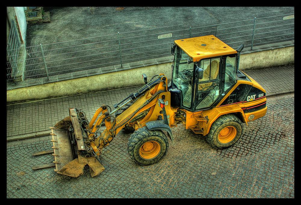 HDR Baustellenfahrzeug
