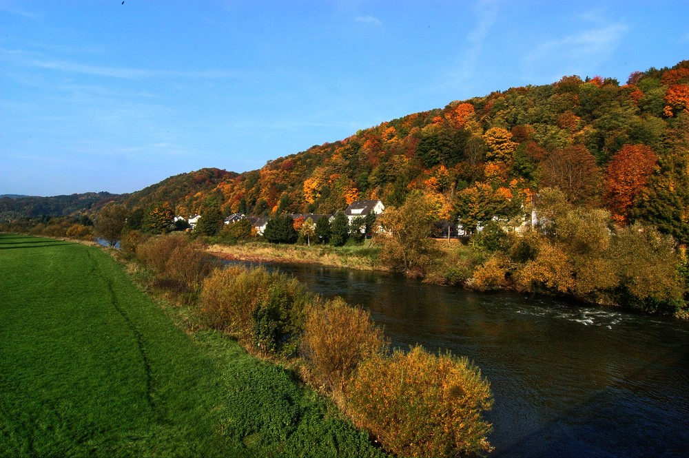 HDR Herbst an der Sieg