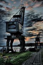HDR Kran Hafen  Wesel