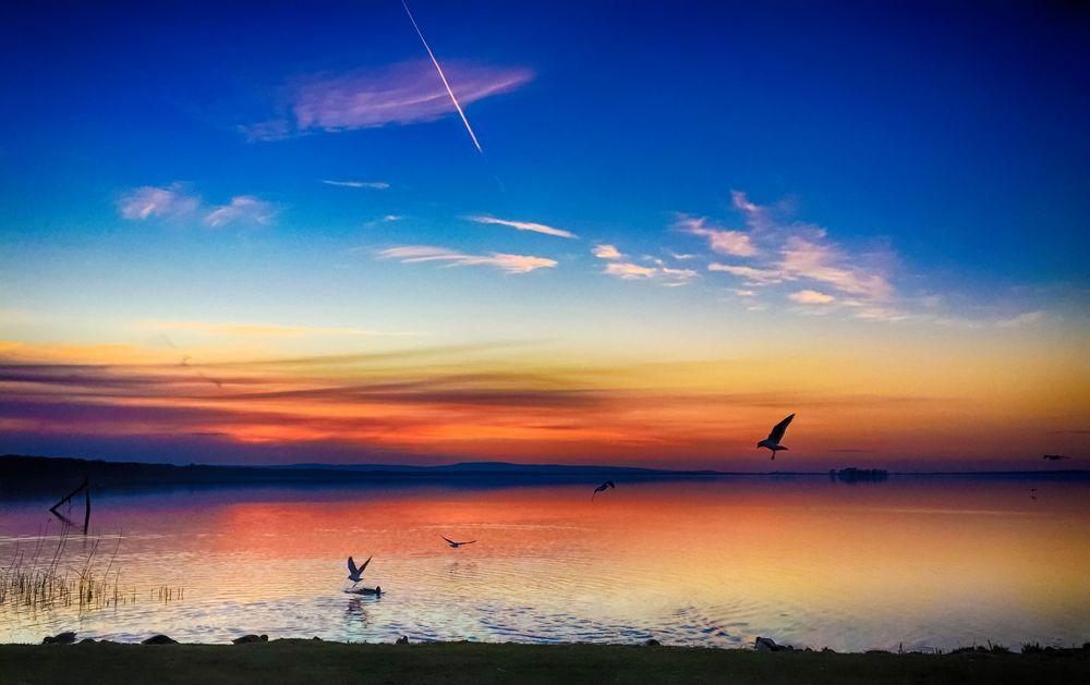 HDR Sonnenuntergang in Steinhude #2