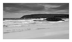 Hebridean Tour: Ness Beach 2 (bw)