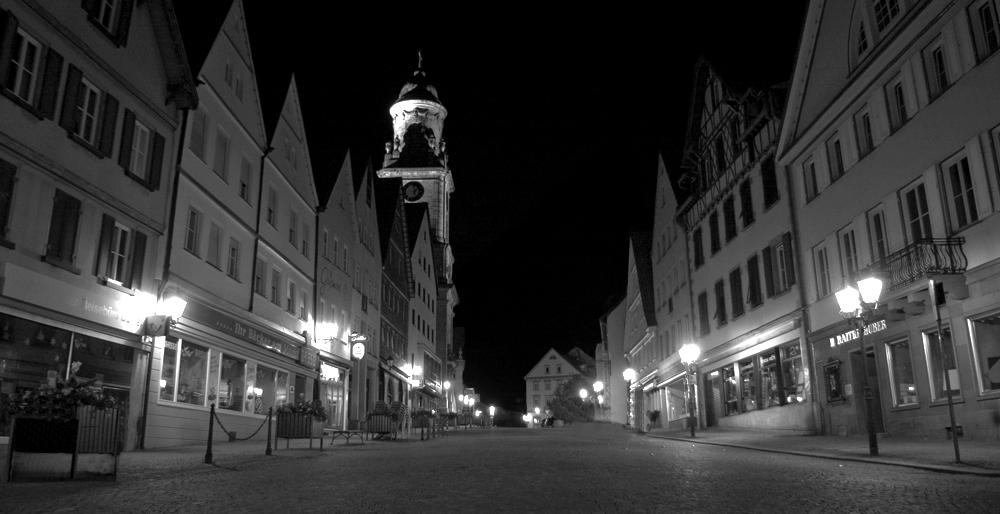 Hechingen Marktplatz bei Nacht