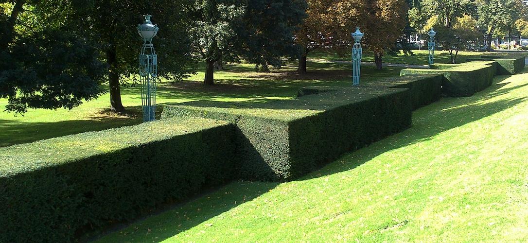 Hecke Akurat Geschnitten Foto Bild Landschaft Garten