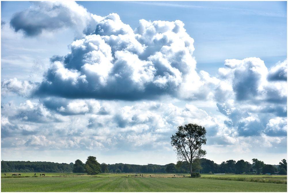 heftige Wolken