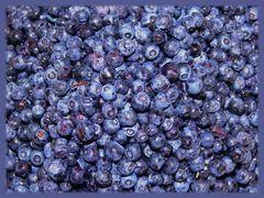 Heidelbeeren, blau und lecker
