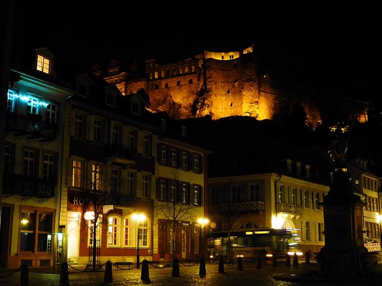 Heidelberg bei Nacht 1