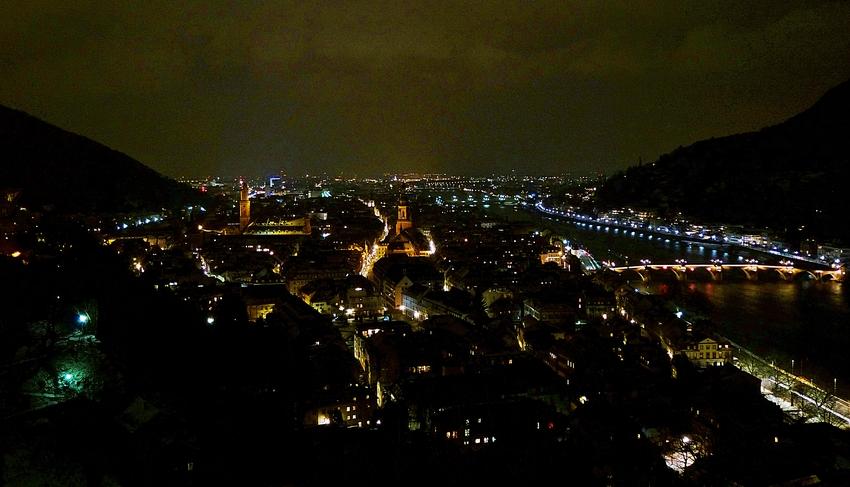 Heidelberg bei Nacht 2