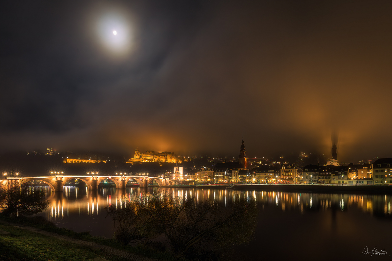 Heidelberg bei Nacht (...und Nebel)