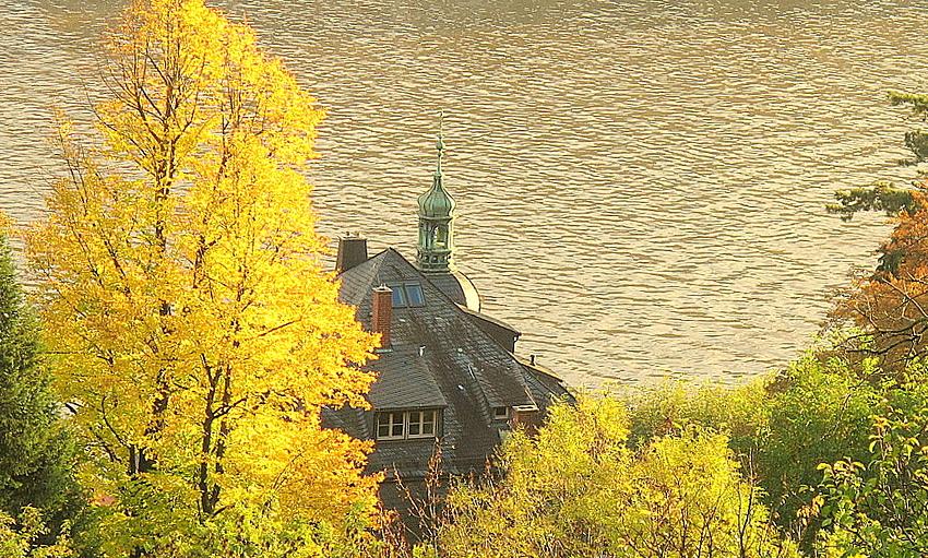 Heidelberg Philosophenweg:ein Neckarblick