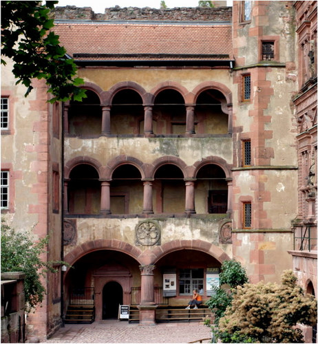 Heidelberg - Schloß - Gläserner Saalbau
