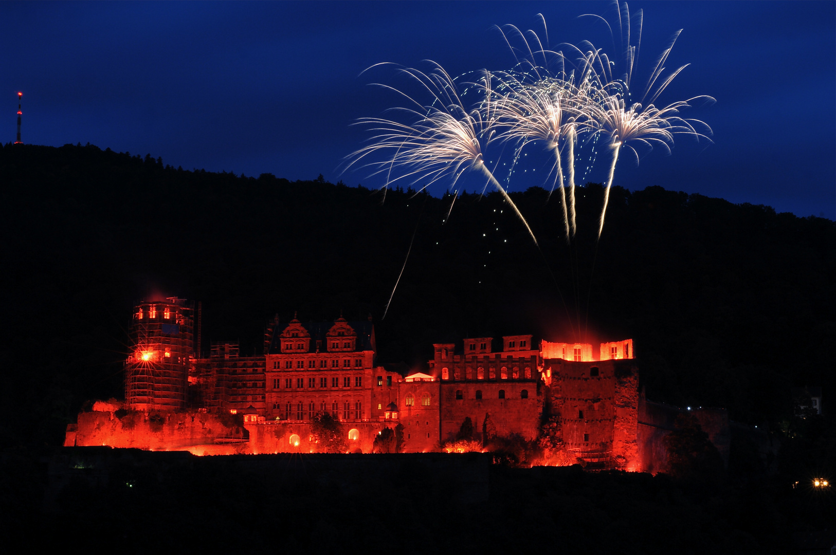 Heidelberg Schlossbeleuchtung